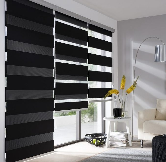 doppelrollos mode f r die fenster. Black Bedroom Furniture Sets. Home Design Ideas